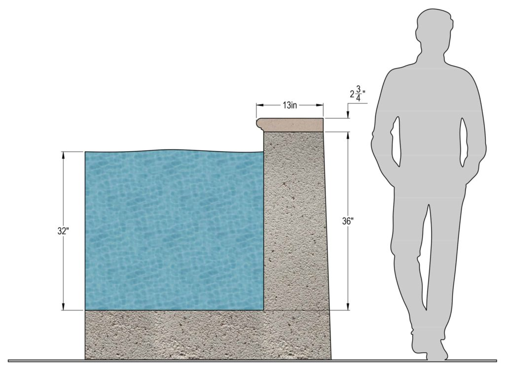Precast Concrete Pool Coping